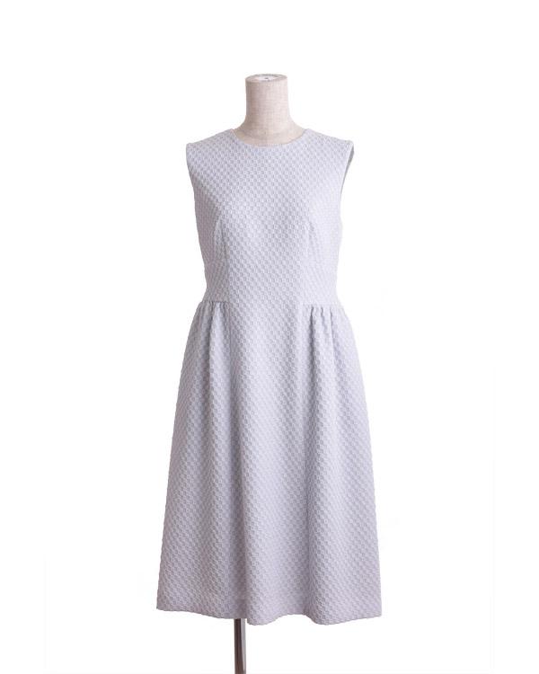 【アイスグレー 9号】ソフトラメジャカード ドレス