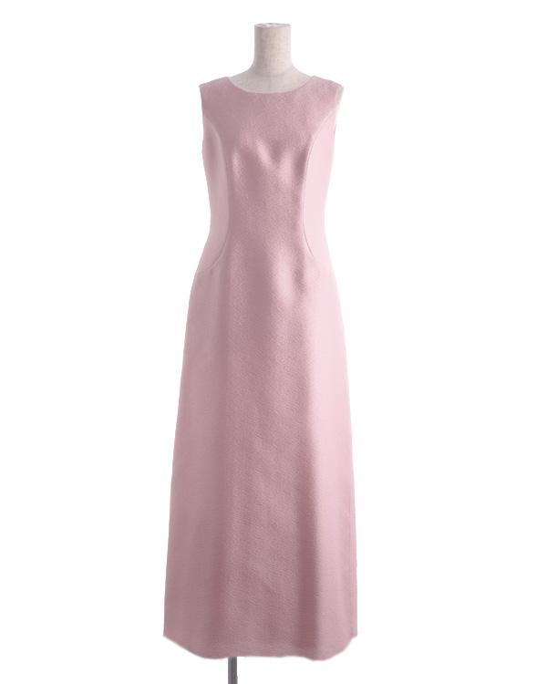 【ピンク ※色・サイズ選択可】シルク入り シャインジャカード ロングドレス