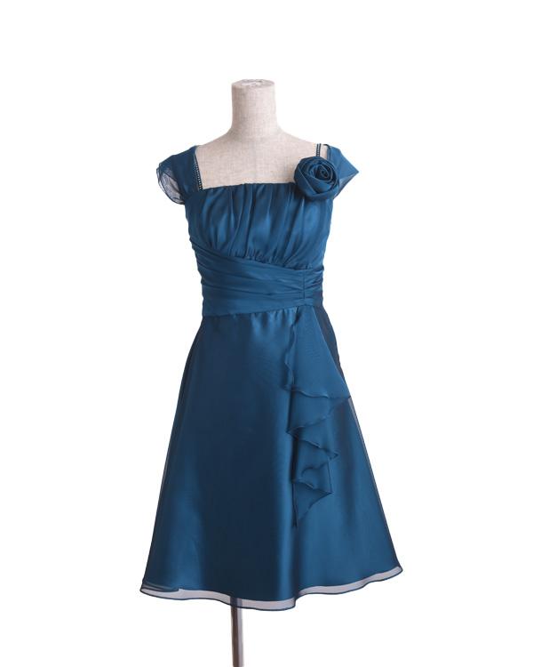 【ピーコック 11号】 シフォンジー 切り替えドレス