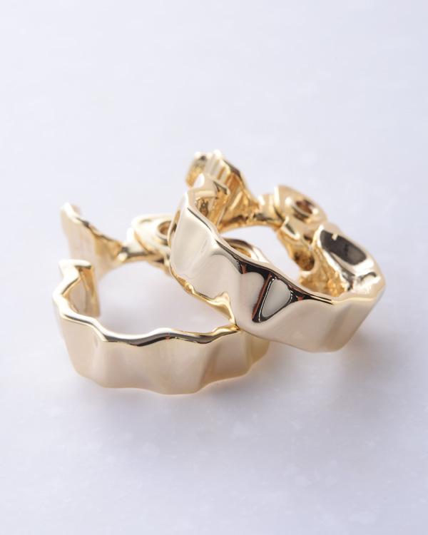 【ゴールド】ピアスライク シンプルデザイン エアフィットイヤリング