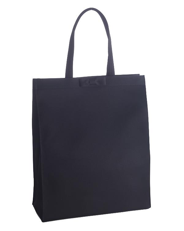 【ブラック】サテン インナーポケット付き ソフトタイプ トートバッグ お受験 葬儀対応
