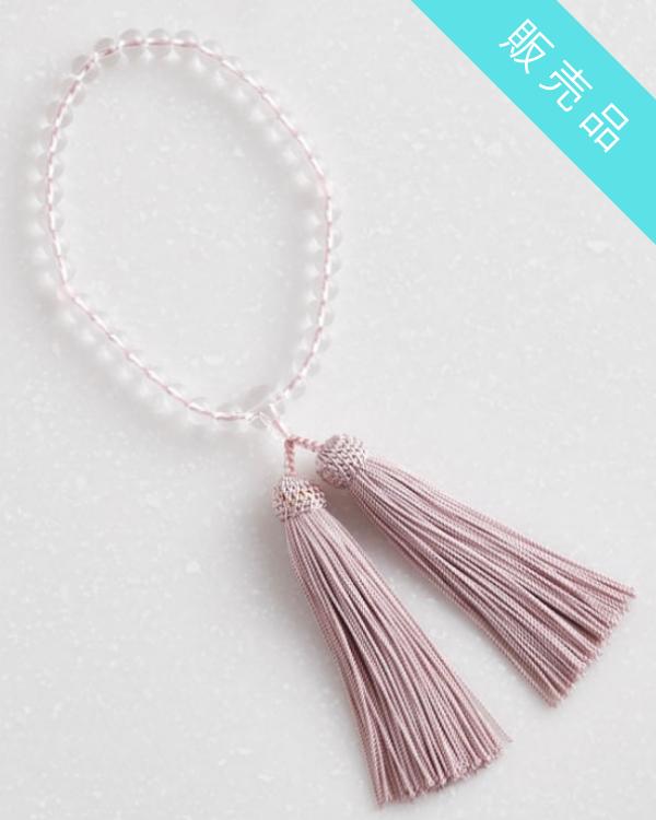 【ピンク】玻璃水晶の念珠